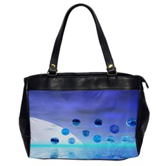 Moonlight Wonder, Abstract Journey To The Unknown Oversize Office Handbag (One Side)