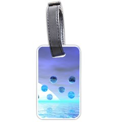Moonlight Wonder, Abstract Journey To The Unknown Luggage Tag (One Side)