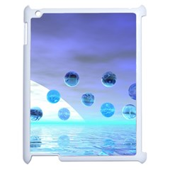 Moonlight Wonder, Abstract Journey To The Unknown Apple iPad 2 Case (White)