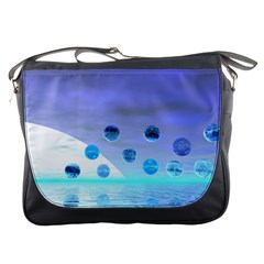 Moonlight Wonder, Abstract Journey To The Unknown Messenger Bag