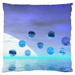 Moonlight Wonder, Abstract Journey To The Unknown Large Cushion Case (single Sided)
