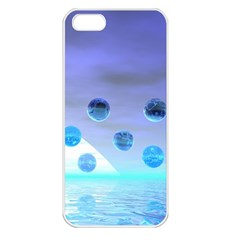 Moonlight Wonder, Abstract Journey To The Unknown Apple iPhone 5 Seamless Case (White)
