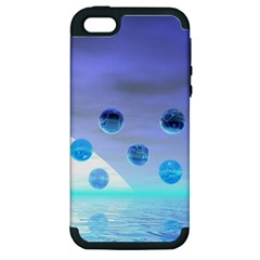 Moonlight Wonder, Abstract Journey To The Unknown Apple iPhone 5 Hardshell Case (PC+Silicone)