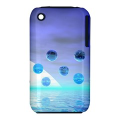 Moonlight Wonder, Abstract Journey To The Unknown Apple iPhone 3G/3GS Hardshell Case (PC+Silicone)