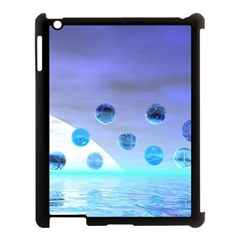 Moonlight Wonder, Abstract Journey To The Unknown Apple iPad 3/4 Case (Black)