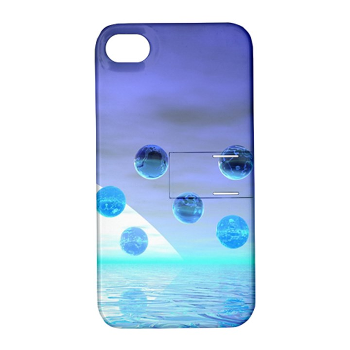 Moonlight Wonder, Abstract Journey To The Unknown Apple iPhone 4/4S Hardshell Case with Stand