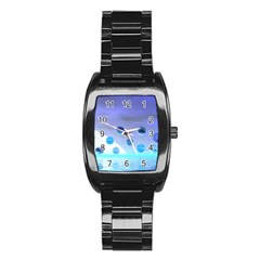Moonlight Wonder, Abstract Journey To The Unknown Stainless Steel Barrel Watch