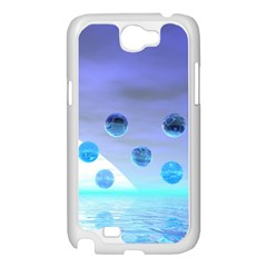 Moonlight Wonder, Abstract Journey To The Unknown Samsung Galaxy Note 2 Case (White)