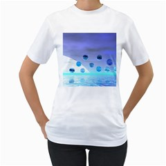 Moonlight Wonder, Abstract Journey To The Unknown Women s T-Shirt (White)