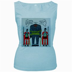 Big Foot 2 Romans Women s Tank Top (baby Blue)