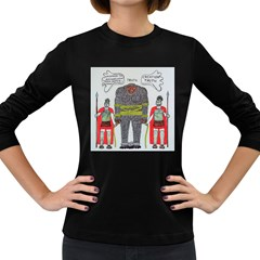 Big Foot 2 Romans Women s Long Sleeve T-shirt (Dark Colored)