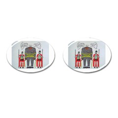 Big Foot 2 Romans Cufflinks (Oval)