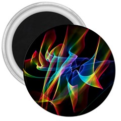 Aurora Ribbons, Abstract Rainbow Veils  3  Button Magnet
