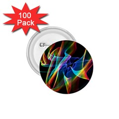 Aurora Ribbons, Abstract Rainbow Veils  1 75  Button (100 Pack)