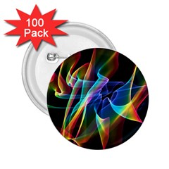 Aurora Ribbons, Abstract Rainbow Veils  2 25  Button (100 Pack)