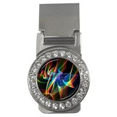 Aurora Ribbons, Abstract Rainbow Veils  Money Clip (cz)