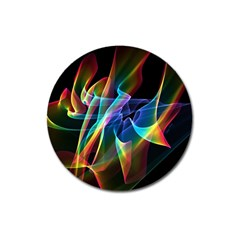 Aurora Ribbons, Abstract Rainbow Veils  Magnet 3  (Round)