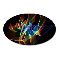 Aurora Ribbons, Abstract Rainbow Veils  Magnet (oval)