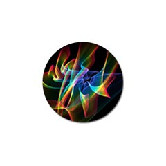 Aurora Ribbons, Abstract Rainbow Veils  Golf Ball Marker 4 Pack