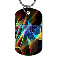 Aurora Ribbons, Abstract Rainbow Veils  Dog Tag (Two-sided)