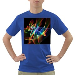 Aurora Ribbons, Abstract Rainbow Veils  Men s T-shirt (Colored)
