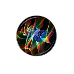 Aurora Ribbons, Abstract Rainbow Veils  Golf Ball Marker (for Hat Clip)