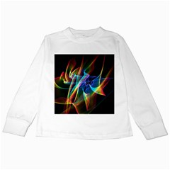 Aurora Ribbons, Abstract Rainbow Veils  Kids Long Sleeve T-Shirt