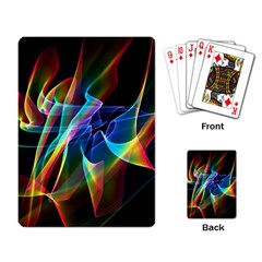Aurora Ribbons, Abstract Rainbow Veils  Playing Cards Single Design