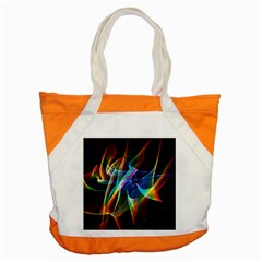 Aurora Ribbons, Abstract Rainbow Veils  Accent Tote Bag