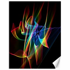 Aurora Ribbons, Abstract Rainbow Veils  Canvas 12  x 16  (Unframed)