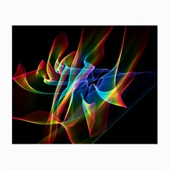 Aurora Ribbons, Abstract Rainbow Veils  Glasses Cloth (Small, Two Sided)