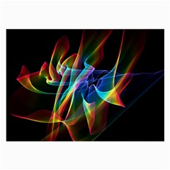 Aurora Ribbons, Abstract Rainbow Veils  Glasses Cloth (large, Two Sided)