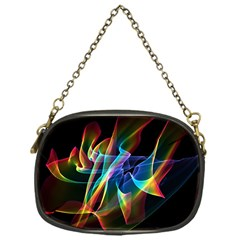 Aurora Ribbons, Abstract Rainbow Veils  Chain Purse (One Side)