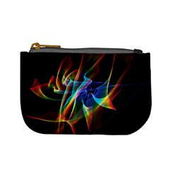 Aurora Ribbons, Abstract Rainbow Veils  Coin Change Purse