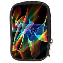Aurora Ribbons, Abstract Rainbow Veils  Compact Camera Leather Case