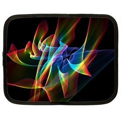 Aurora Ribbons, Abstract Rainbow Veils  Netbook Sleeve (xl)