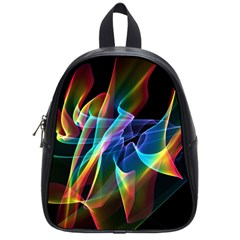 Aurora Ribbons, Abstract Rainbow Veils  School Bag (small)