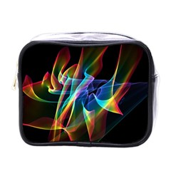 Aurora Ribbons, Abstract Rainbow Veils  Mini Travel Toiletry Bag (one Side)