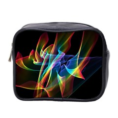 Aurora Ribbons, Abstract Rainbow Veils  Mini Travel Toiletry Bag (Two Sides)