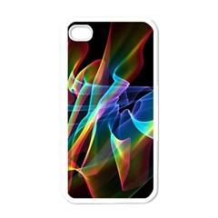 Aurora Ribbons, Abstract Rainbow Veils  Apple Iphone 4 Case (white)