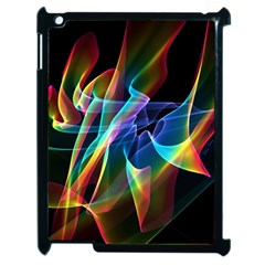 Aurora Ribbons, Abstract Rainbow Veils  Apple Ipad 2 Case (black)
