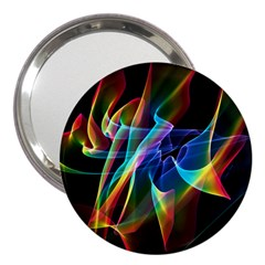 Aurora Ribbons, Abstract Rainbow Veils  3  Handbag Mirror