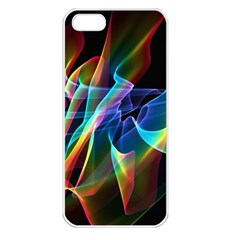 Aurora Ribbons, Abstract Rainbow Veils  Apple Iphone 5 Seamless Case (white)