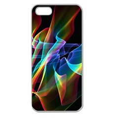 Aurora Ribbons, Abstract Rainbow Veils  Apple Seamless Iphone 5 Case (clear)
