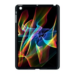 Aurora Ribbons, Abstract Rainbow Veils  Apple iPad Mini Case (Black)
