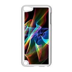 Aurora Ribbons, Abstract Rainbow Veils  Apple iPod Touch 5 Case (White)