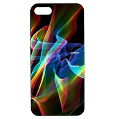 Aurora Ribbons, Abstract Rainbow Veils  Apple Iphone 5 Hardshell Case With Stand