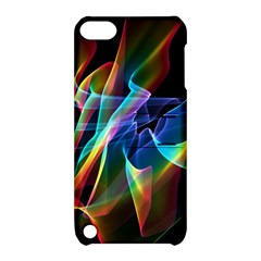 Aurora Ribbons, Abstract Rainbow Veils  Apple iPod Touch 5 Hardshell Case with Stand