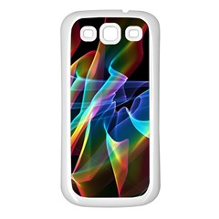 Aurora Ribbons, Abstract Rainbow Veils  Samsung Galaxy S3 Back Case (White)
