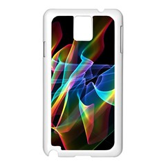 Aurora Ribbons, Abstract Rainbow Veils  Samsung Galaxy Note 3 N9005 Case (White)